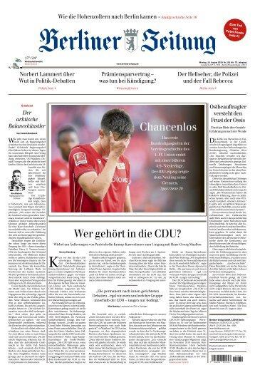 Berliner Zeitung 19.08.2019