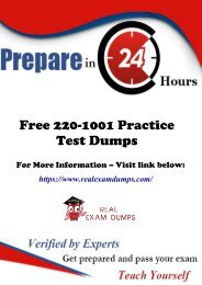 Get 2019 Updated CompTIA 220-1001 Practice Question Answers - RealExamDumps