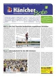 Hänicher Bote | August-Ausgabe 2019