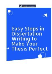 Easy Steps in Dissertation Writing to Make Your Thesis Perfect