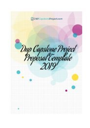 Dnp Capstone Project Proposal Template 2019