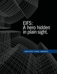 EIFS: A hero hidden in plain sight - Architectural Awards