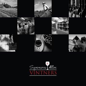 Symmons & Allen Vintners wine portfolio