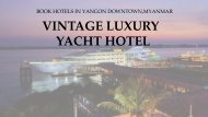 Welcome to the V Traditional Massage & Spa Lounge at Vintage Luxury Yacht Hotel