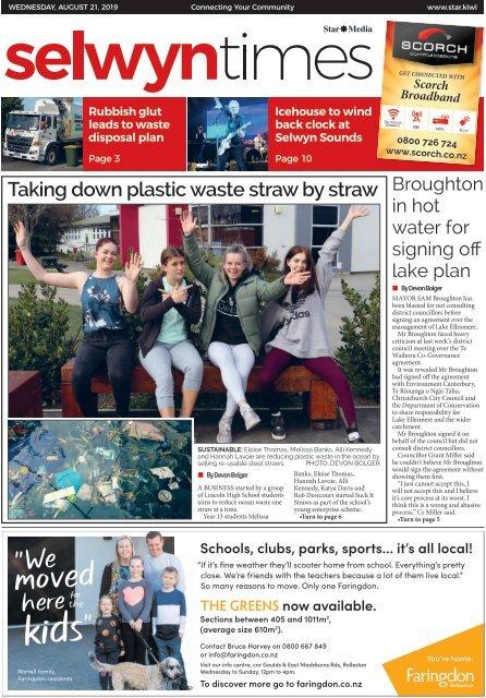 Selwyn Times: August 21, 2019