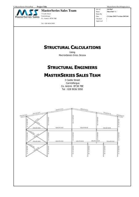 MasterSeries Steel Design Sample Output