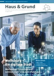 Haus & Grund Wolfsburg und Umgebung e.V. Ausgabe 4/2019 August 2019