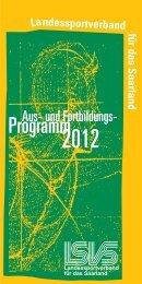 Aus- und Fortbildung 2012 - Landessportverband  für das Saarland