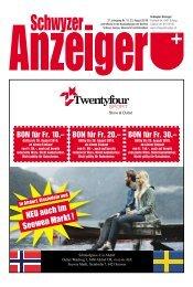 Schwyzer Anzeiger – Woche 34 – 23. August 2019