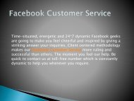 Our Facebook Customer Service at top, offer good solutions in short time