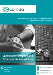 Cortida CyberSecurity Consulting
