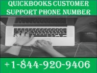 Quickbooks Enterprise Customer Support Phone Number|+1-844-920-9406