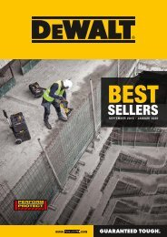 DeWalt BestSellers september 2019 - januari 2020