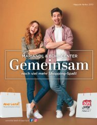 MARIANDL & Bühl Center Magazin Herbst 2019