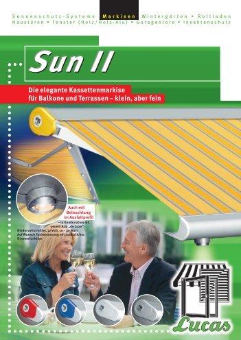 Kassettenmarkise Sun II - Lucas Fenster