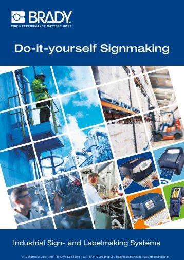 BRADY Do-it-yourself Signmaking - HTE