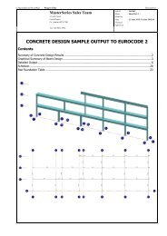 MasterSeries Concrete Design Sample Output
