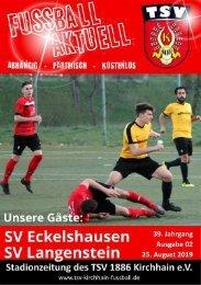 25.08.2019 - Stadionzeitung - Eckelshauen / Langenstein
