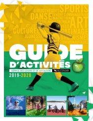 Guide d'activités 2019-2020 du Service des loisirs et de la culture de la Ville d'Alma