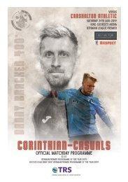 Corinthian-Casuals vs Carshalton Athletic Matchday Programme