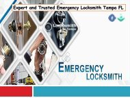 Expert and Trusted Emergency Locksmith Tampa FL