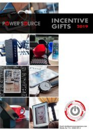 Incentive gifs Power Source Catalogue 2019-20