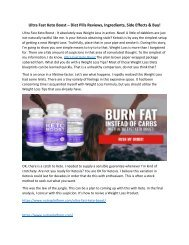 Ultra Fast Keto Boost - Is This Weight Loss Pills Scam Or Works?