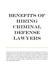 Benefits of Hiring Criminal Defense Lawyers