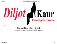 Chandigarh Escorts, 9646151914 Independent Call Girls - DilJot