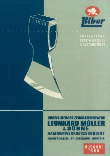 Leonhard Müller & Söhne - Katalog 1966