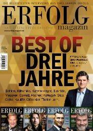 Erfolg Magazin - Best of drei Jahre