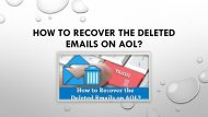 How to Recover the Deleted Emails on AOL