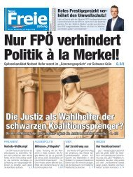 Nur FPÖ verhindert eine Politik à la Merkel!