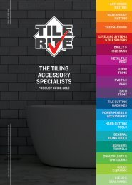 TILE RITE PRODUCT GUIDE 2019