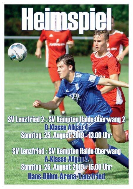 SV Lenzfried Heimspiel Ausgabe 1 Saison 2019-2020