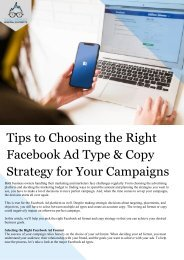 Tips to Choosing the Right Facebook Ad Type & Strategy for Your Campaigns