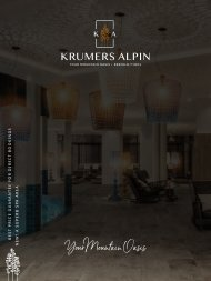 Krumers Alpin Imagebroschuere | EN