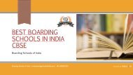 World's Best Boardngs chools of india CBSE