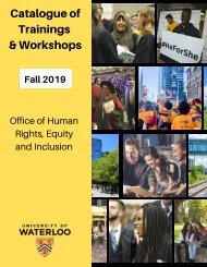 Catalogue of Trainings and Workshops: Fall 2019 Edition