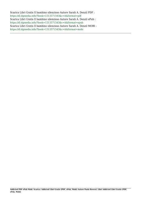 Scarica Addicted (PDF, ePub, Mobi) Di Paolo Roversi