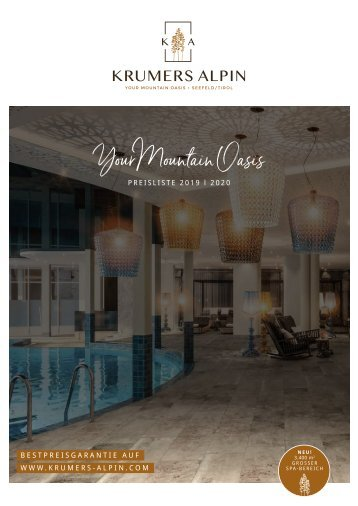 Krumers Alpin Preisliste 2019/2020 | DE
