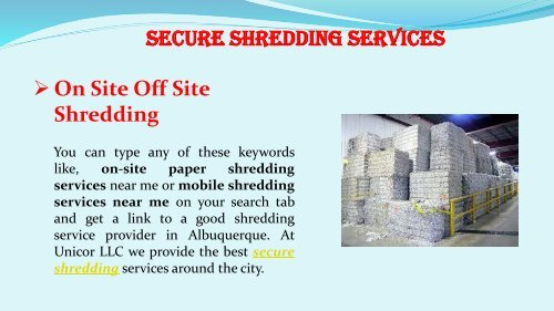 Find the Mobile and On-Site Shredding Company