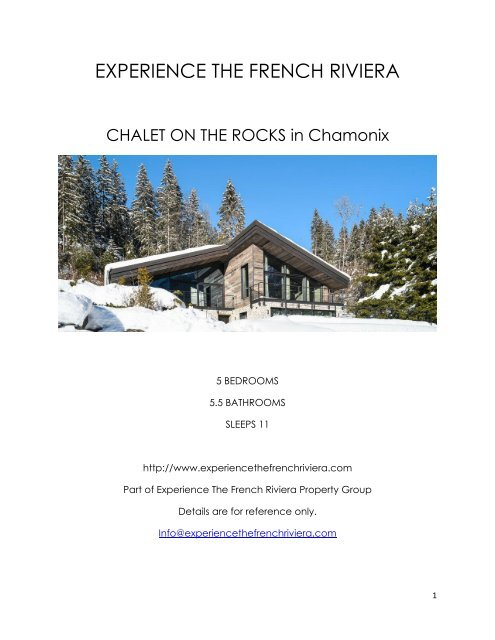 Chalet On The Rocks - Chamonix