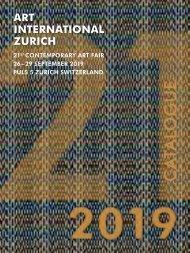 Catalogue of Art International Zurich 2019 - Contemporary Art Fair - Zurich, Switzerland