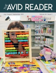 The Avid Reader Issue 24.3 - July/Aug/Sept 2019