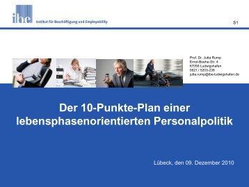 Der 10-Punkte-Plan einer lebensphasenorientierten Personalpolitik
