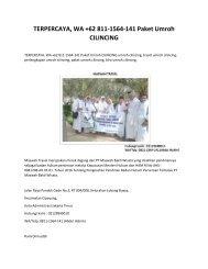 TERPERCAYA, WA +62 811-1564-141 Paket Umroh CILINCING