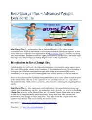 Keto Charge Plus – Advanced Weight Loss Formula