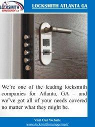 Locksmith Atlanta GA