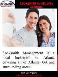 Locksmith In Atlanta Georgia